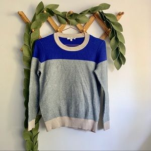 Madewell Color Weave Color Block Sweater